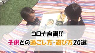 【コロナ自粛】子供(幼児)との過ごし方・遊び方20選【完全版!!】